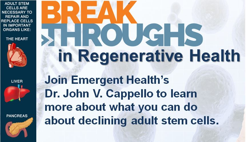 Breakthroughs in Regenerative Health flyer
