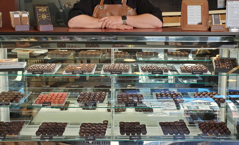Eclat Chocolate on Display